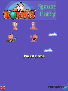 Worms Space Party скриншот №1